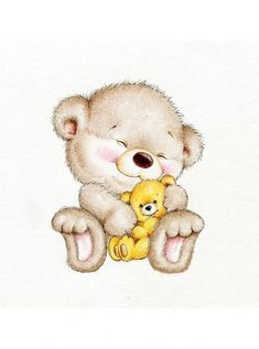 Collections Baby Animals Bear Bunny Kitten Stockillustration 517062961 Teddy bear with baby bear Tatty Teddy, Illustration Mignonne, Cute Illustration, Bear Cartoon, Cute Cartoon, Cute Animal Drawings, Cute Drawings, Cartoon Mignon, Teddy Bear Tattoos