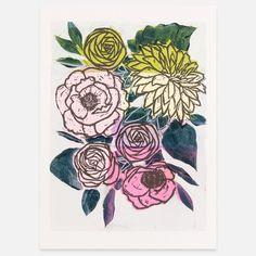 I LOVE ILLUSTRATION///curated illustration and art #GabriellaIberra #Linoleum print
