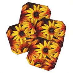 Shannon Clark Sunshine Petals Coaster Set | DENY Designs Home Accessories