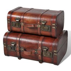 Vintage Retro Wooden Treasure Chest Trunks Storage Box Case Home Furniture Storage Trunk, Wood Storage, Storage Boxes, Storage Chest, Belt Storage, Truck Storage, Storage Spaces, Wooden Trunks, Wooden Chest