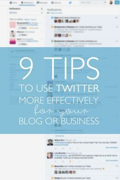 Are you wondering how to use Twitter for blog and business growth? These 9 tips will help you grow your following and engagement in no time!