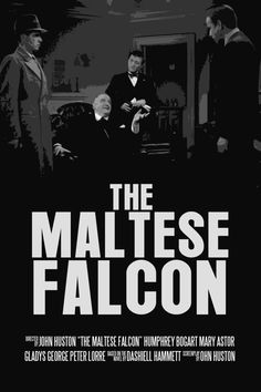 Humphrey Bogart Movie Poster Set The Maltese Falcon by FunnyFaceArt