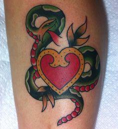 Snake and heart tattoo....ideas