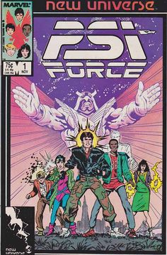 "Psi-Force was a thirty-two-issue comic book series published by Marvel Comics under their New Universe imprint from 1986 to 1989. Along with D.P. 7 and Justice, it was one of the only New Universe titles to last for thirty-two issues. It concerned a group of adolescents who had developed psionic powers following the ""White Event"" which had created most of the paranormals in the New Universe."
