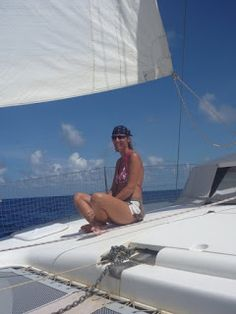 Spotlight on New Book Debut Author Liesbet Collaert #NewBook #DebutAuthor #2021Books Plunge #travel Liesbet sailing on Irie in the Caribbean Wild Cheryl Strayed, Line Love, Sailing Adventures, Self Publishing, Writing Activities, Great View, Call Her, Writing A Book, Memoirs
