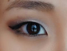 Taupe and silver smokey eye for monolid