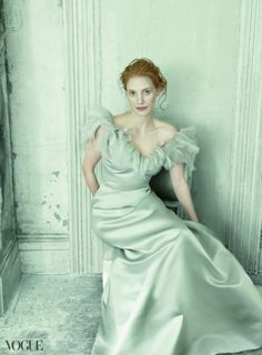 Annie Leibovitz for Vogue US // mint green gown /~/ special // pretty