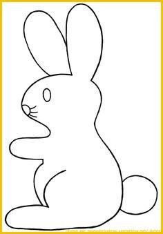 Lapin de Pâques *2* gabarit tourné vers la gauche