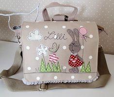 Kindergartentaschen - Kindergartenrucksack/ Kindergartentasche Hase - ein Designerstück von Feinerlei bei DaWanda