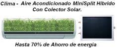 MiniSplit híbrido con colector solar - Hasta 70% ahorro en el consumo de energía