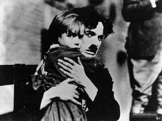 The Kid - Publicity still of Charles Chaplin & Jackie Coogan