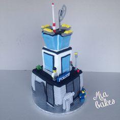 Lego City Police prison island cake by Mia bakes #äitileipoo