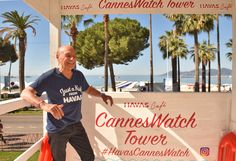 Havas legend Jacques Seguela checking out the #HavasCafe WatchTower.