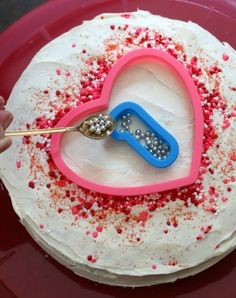 Use cookie cutters to decorate neatly with sprinkles.