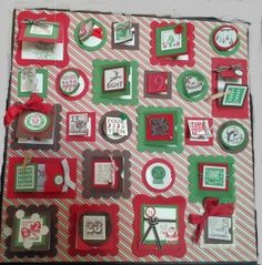 Advent Calendar Verses....I so want to make one of these or maybe even more for gifts.  How wonderful...