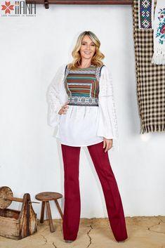 Nadia Comaneci for IIANA Nadia Comaneci, Bell Sleeves, Bell Sleeve Top, Corset, Boho, My Style, Long Sleeve, Womens Fashion, How To Wear