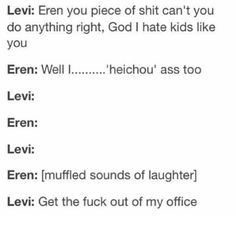 thing is, I would do exactly what eren just did