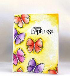 Watercolour butterflies