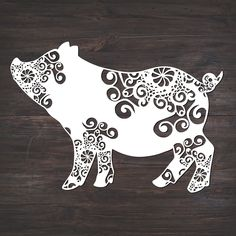 Baby Pigs, Baby Baby, Silhouette Online Store, Mandalas Drawing, Silhouette Cameo Projects, Silhouette Design, Svg Files For Cricut, Cricut Vinyl, Cricut Creations