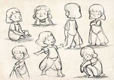 Girl in a skirt Art And Illustration, Character Illustration, Illustrations, Kid Character, Character Drawing, Cartoon Drawings, Art Drawings, Anime Poses, Art Reference Poses