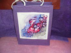 Paper Gift Bag  Birdies on Blooms by TheGiftoftheGAB on Etsy, $5.00