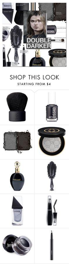 """Double Darker"" by nindi-wijaya ❤ liked on Polyvore featuring beauty, NARS Cosmetics, Essie, N°21, Gucci, Roberto Cavalli, GUiSHEM, Lancôme, Terre Mère and MAC Cosmetics"