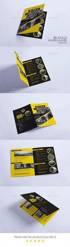Bi-Fold A5 Brochure - Leaflet - Portfolio Brochures | Download http://graphicriver.net/item/bifold-a5-brochure-leaflet/12806208?ref=sinzo