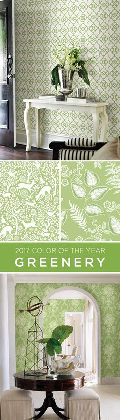 Get the look of Pantone's 2017 Color of the Year, Greenery, in your home