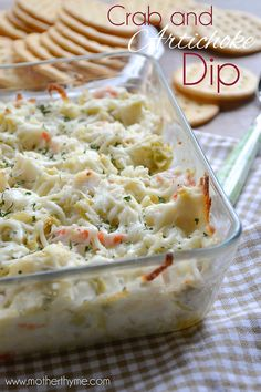 A delicious recipe for Crab and Artichoke Dip that is easy to prepare and is perfect for entertaining.