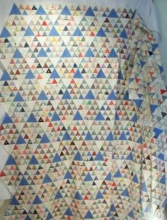 Vintage Quilt Top Pyramids Mountains Triangles 30s by GoodAndOld, $130.00