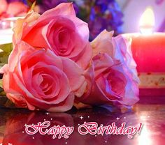 A Beautiful Birthday Ecard With Pink Flowers Amp Warm Greetings To Sparkle Up