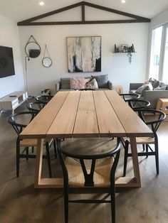 Contact us for current lead times. Our Plank Dining Table is made from locally sourced, feature grade, Victorian Ash and finished with a hard. Outdoor Dinning Table, Wooden Dining Table Designs, Dinning Table Design, Simple Dining Table, Timber Dining Table, Reclaimed Wood Dining Table, Dining Table Chairs, Dining Furniture, Victorian Dining Tables