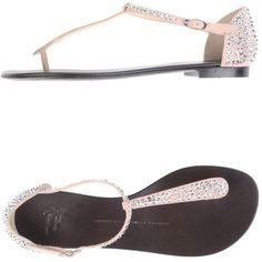 Giuseppe Zanotti Pink Thong Sandal