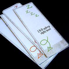 bookmark-I feel asleep right.........................here