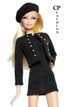 CP ITALIAN STYLE handmade outfit for BARBIE BASICS,MODEL ,PIVOTAL