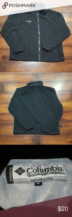 NWOT Men's Columbia fleece jacket, size medium NWOT Men's black Columbia fleece full zip jacket size medium. Columbia Shirts Sweatshirts & Hoodies