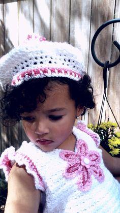 Crochet top and Beret