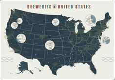 Pop Chart Lab — Breweries of the United States Map (mostly fixed). C'mon, how do you fit all 40+ San Diego breweries in? You don't.