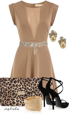 """Nude Dress"" by stephiebees on Polyvore"