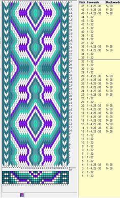 32 tarjetas hexagonales, 5 colores, repite cada 32 movimientos // sed_295_c6 diseñado en GTT༺❁
