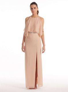 **Elise Ryan Cape Maxi Dress