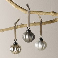 2x Pumpkin Bauble - Set of 3 | The White Company