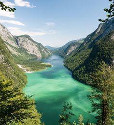Berchtesgaden National Park  Lying within Germany's national park is Lake Köenigssee.