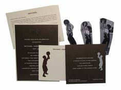 Convert your favorite basketball shot into a custom Bar Mitzvah invitation in ecru and bronze