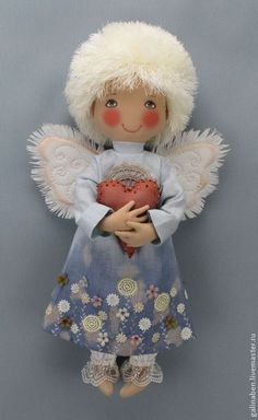 Куклы и игрушки ручной работы. Ярмарка Мастеров - ручная работа Текстильная кукла Ангел. Handmade.