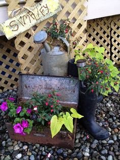 Just a few of the many things to make garden containers from.