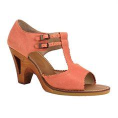 Latigo Tiki Cutout Pump Sandal #VonMaur #Latigo #Peach #CutOut