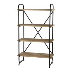 This is the Four Tier Industrial Section Bookcase, which makes a very practical addition to any space.  Made from metal and wood and finished in a natural and neutral brown ensures it will fit into any interior, while the overall unit is very good value…