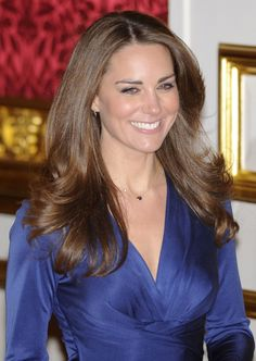 The (then) beautiful Catherine Middleton during her engagement announcement. I hope she wears this dress again....