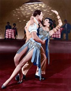 Cyd Charisse and Gene Kelly in 'Singin' in the Rain', 1952.